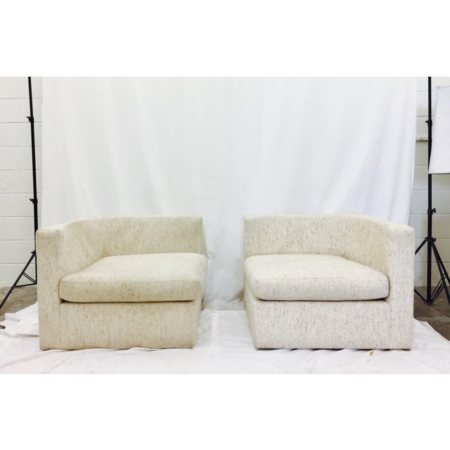 Vintage Mid-Century Modern Milo Baughman Arm Chairs - A Pair - Image 2 of 10