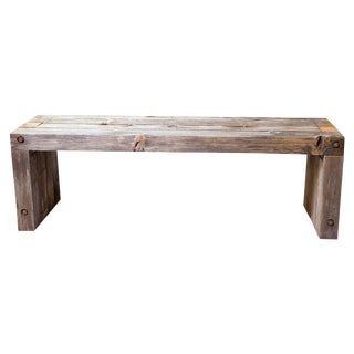 Vintage Wood Parsons Dining Garden Entry Bench