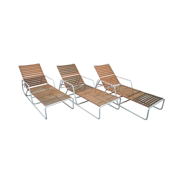 Brown jordan mid century patio chaise lounges chairish for Brown jordan chaise