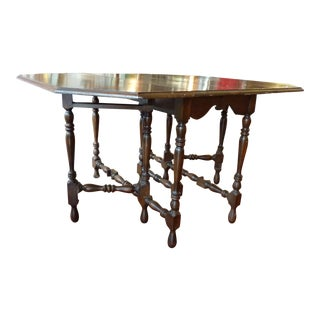 Antique Gate Leg Dining Table