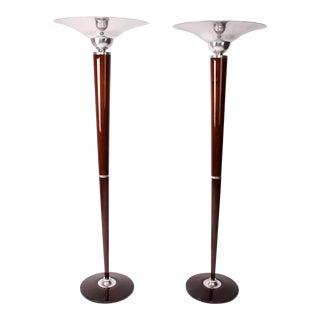 Pair of Hungarian Art Deco Style Floor Lamps