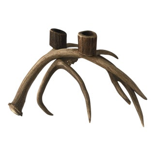Natural Deer Antler Candle Holder
