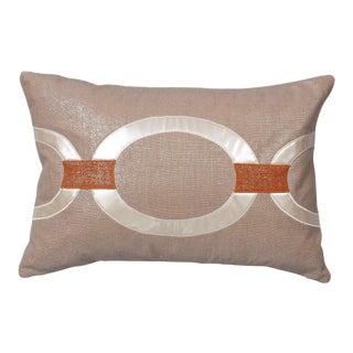"""Piper Collection Beige Metallic Linen """"Hunter"""" Pillow"""