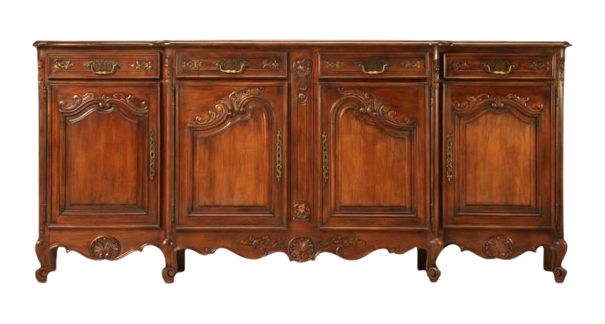 Vintage French Louis XV Cherry Wood Buffet