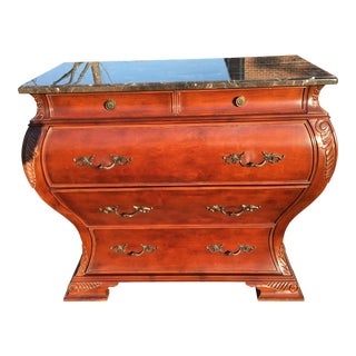 Faux Marble Top Bombe Chest
