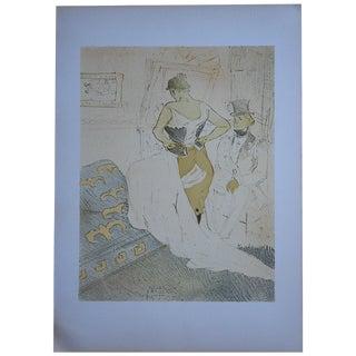 """Vintage Lithograph """"Elles [Women]"""" by Lautrec"""