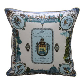 European Street Scene Scarf Pillow Cover