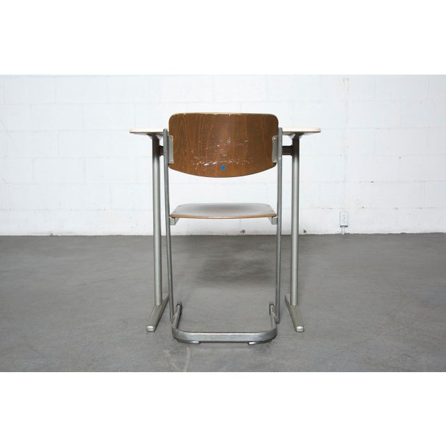 Retro Industrial School Desk and Chair Set - Image 6 of 11