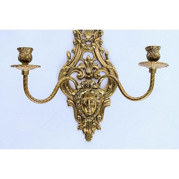 2-Arm Art Nouveau Candle Wall Sconce - Image 3 of 5