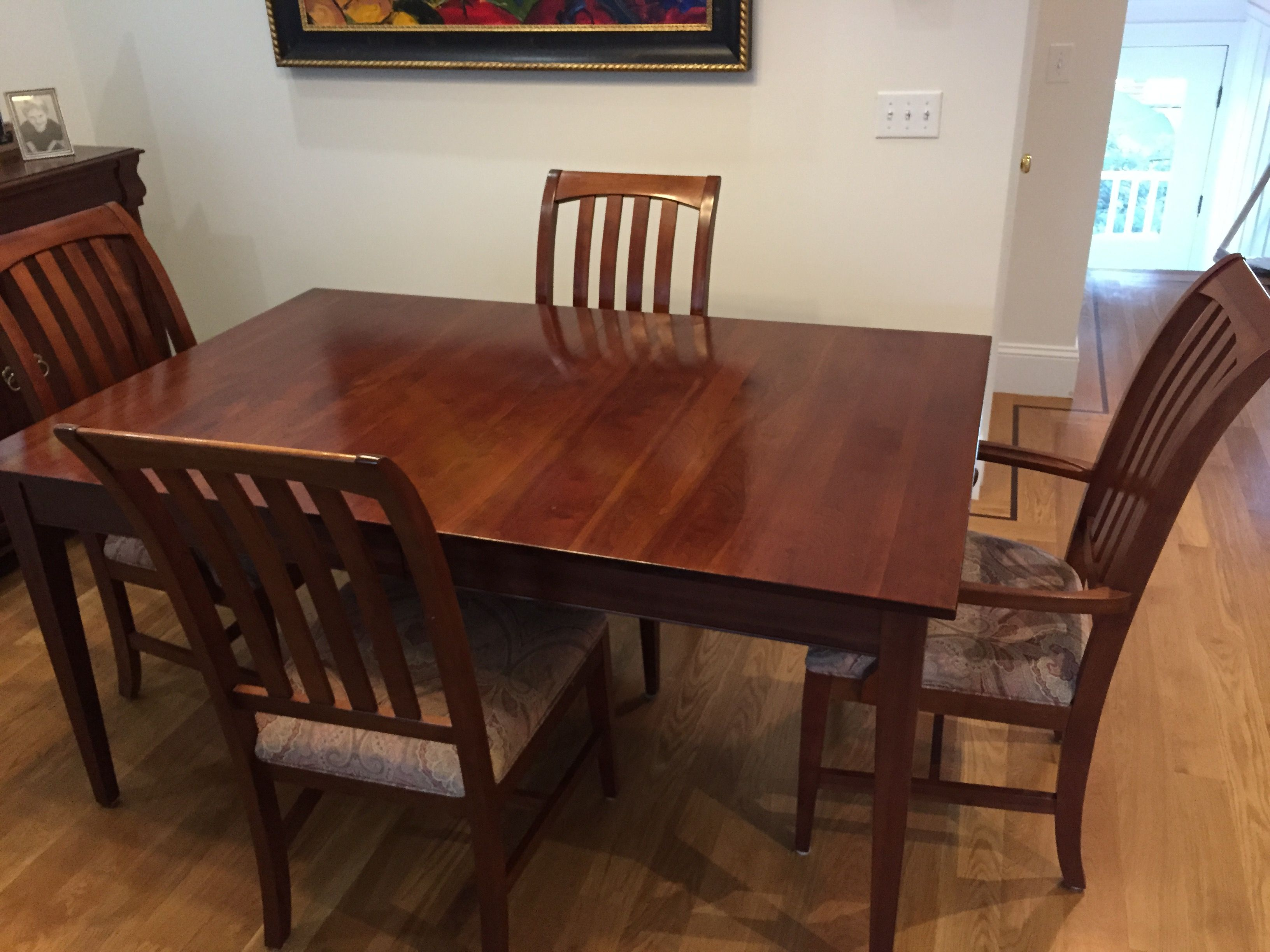 Ethan Allen Dining Room Set Table & 6 Chairs