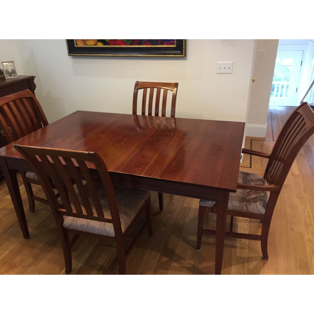 Ethan allen dining room set table 6 chairs chairish - Ethan allen kitchen tables ...