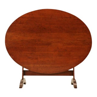 French Cherry Tilt-Top Wine Table Reproduction