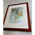 Image of Iridescent Art Print with Asian Phoenix & Floral Design