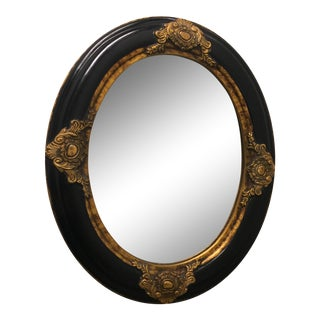 Beveled Black & Gilded Mirror