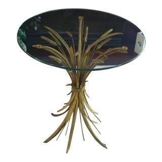 Vintage Italian Hollywood Regency Gilt Accent / Side Table
