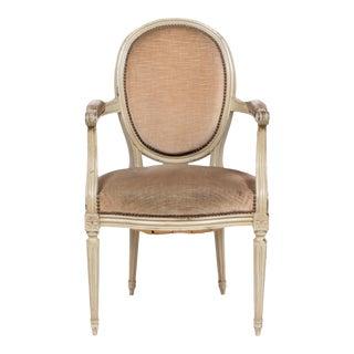 1930s Louis XVI Oval Back Armchair
