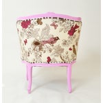 Image of French Provincial Barrel Chair in Magenta