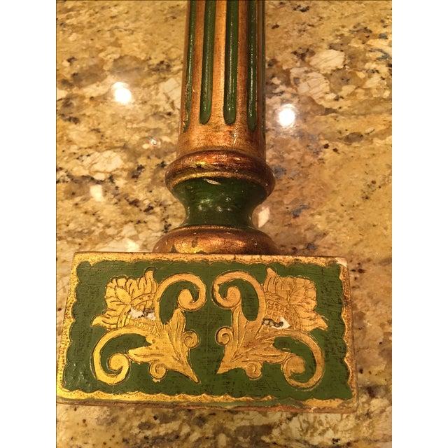 Florentine Green & Gold Italian Pedestal - Image 7 of 8