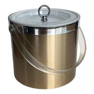 Georges Briard Gold Lucite Ice Bucket