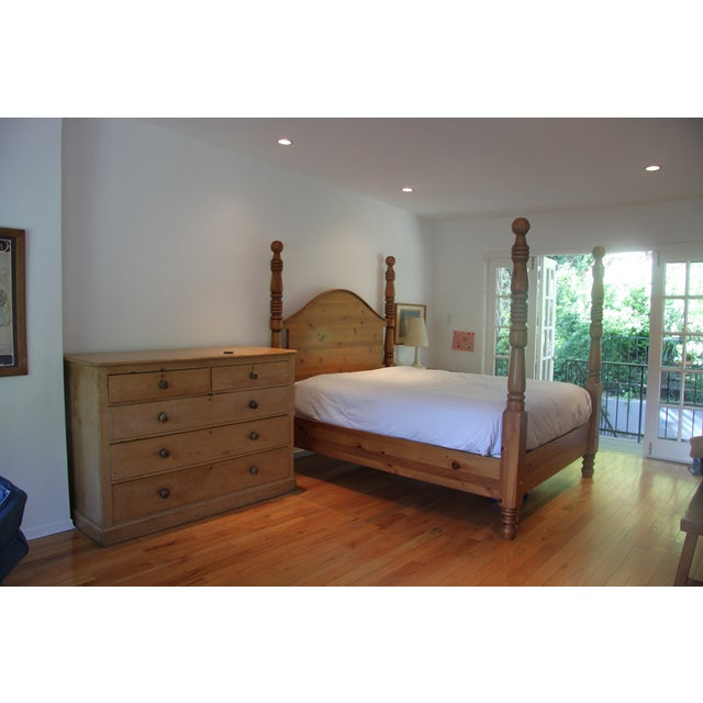 Image of Queen Size Restoration Hardware Four Poster Bed