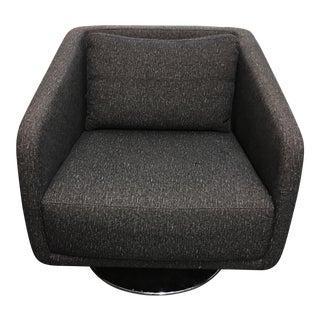 Dellarobia Charcoal Gray Swivel Armchair
