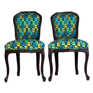 Hollywood Regency French Pop Musical Chairs - A Pair