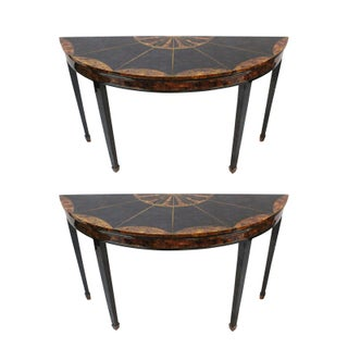 Maitland-Smith Demilune Console Tables - Set of 2