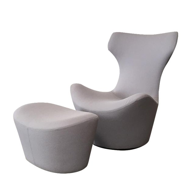 Image of B&B Italia Grande Papilio Chair & Ottoman