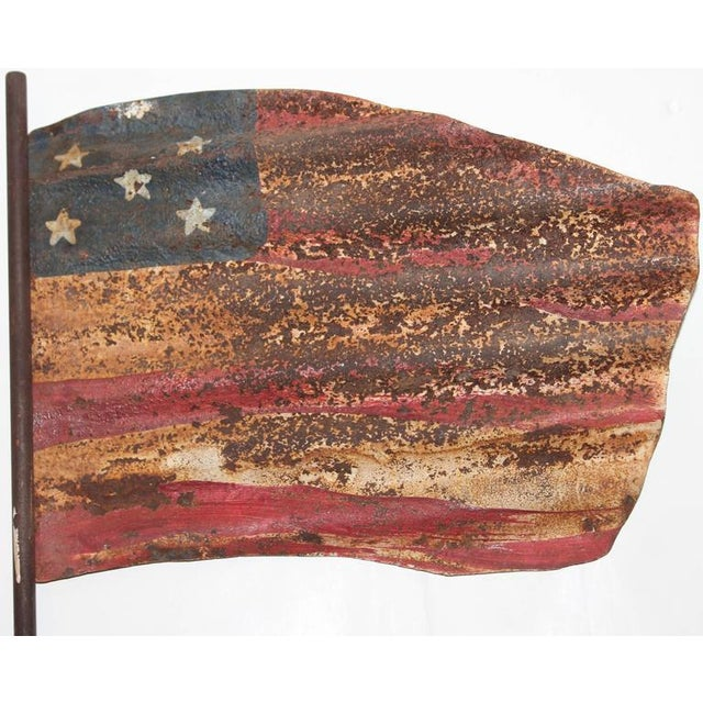 Original Painted Flag from a Weather Vane Fragment - Image 6 of 7