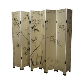 Chinoiserie Painted Folding Screen