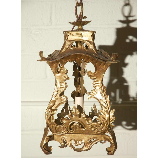 Pair of Venetian Style Tole Lantern Pendants - Image 2 of 8