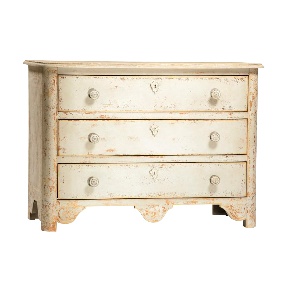 antique 3 drawer dresser with iron handles