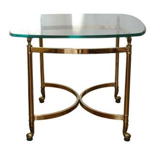 Glass & Brass Regency Side Table