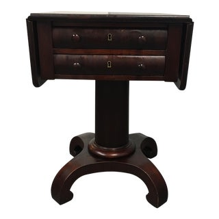 Vintage American Empire Drop-Leaf Side Table