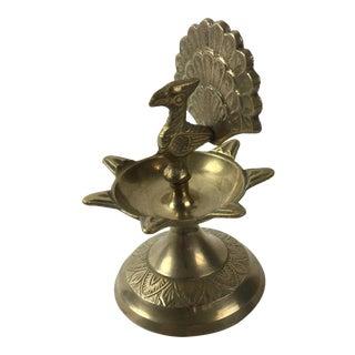 Brass Peacock Oil Burner
