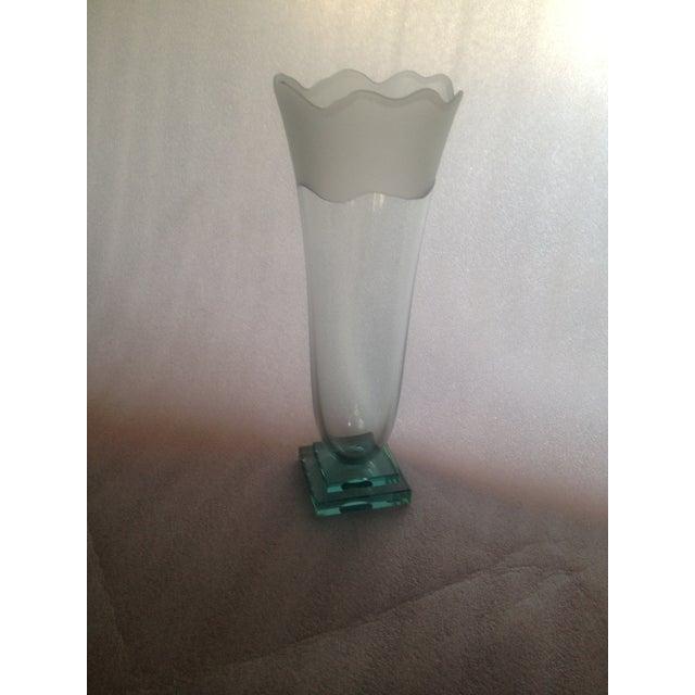 Signed Glass Vase, Green Bottom - Image 3 of 7