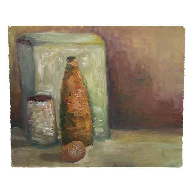 Vintage Abstract Still Life Painting - Image 1 of 11