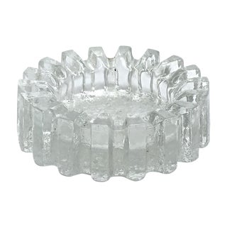 Mid-Century Modern Fluted Glass Candy Dish