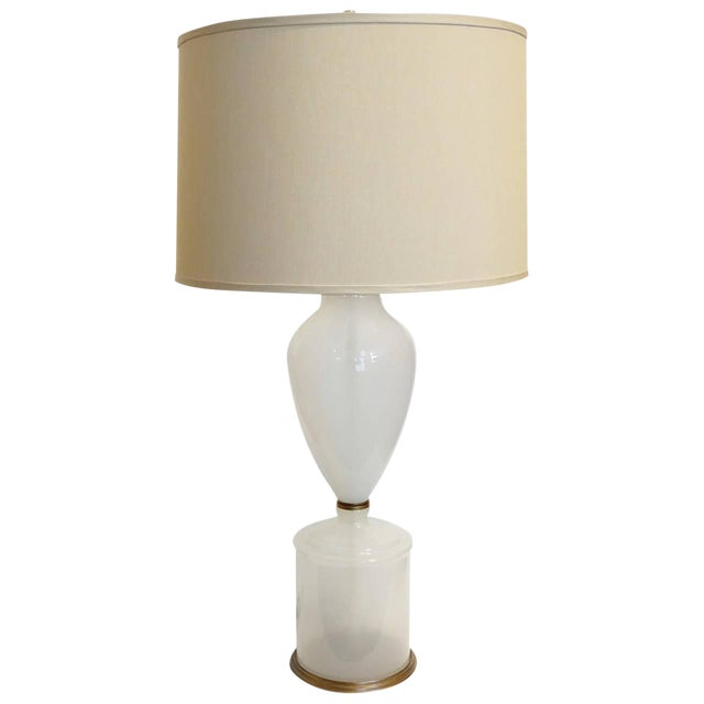 Murano Opaline Table Lamp - Image 1 of 5
