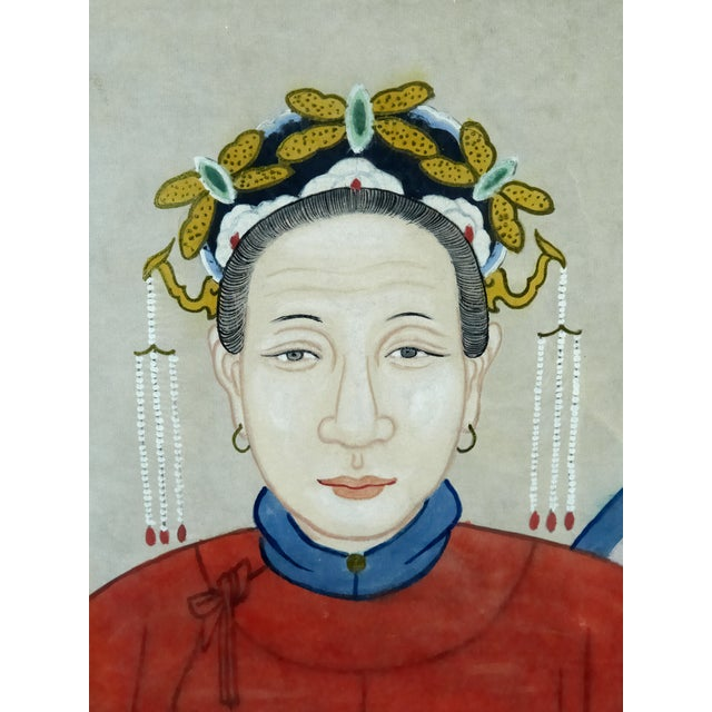 Antique Asian Ancestral Painting - Image 3 of 7