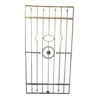 Antique Victorian Iron Gate Window Garden Fence Architectural Salvage Door #043