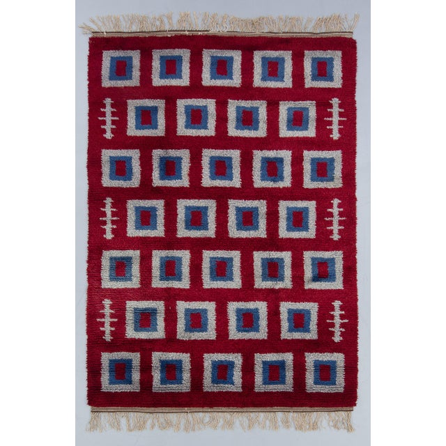 "Swedish Rya Rug - 5'4"" x 7'9"" - Image 2 of 3"