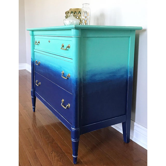 Turquoise & Navy Ombré Dresser - Image 8 of 8