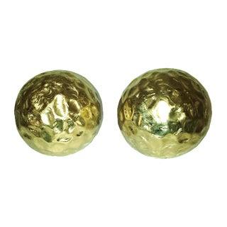 Gold Reflective Meteor Balls - A Pair