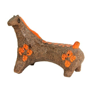 Aldo Londi for Bitossi Vintage 1960 Ceramic Horse