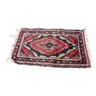 Vintage Wool Hand Tied Prayer Rug - 1′3″ × 2′2″