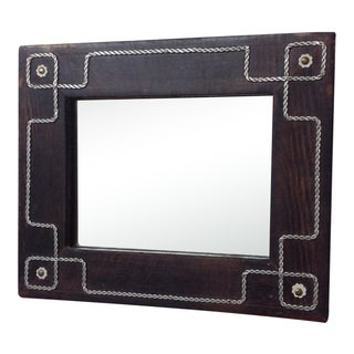 Antique Folk Art Wall Mirror