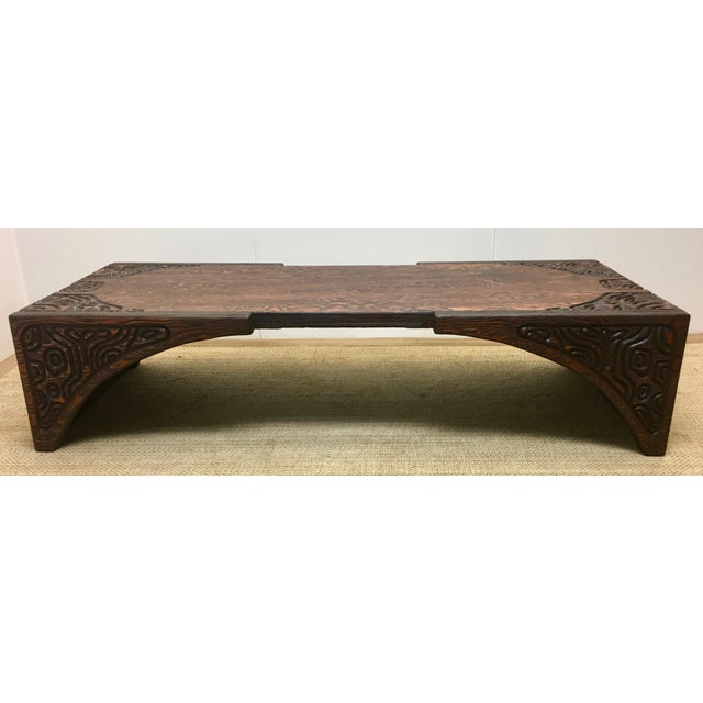 Vintage Witco Brutalist Modern Redwood Coffee Table Chairish