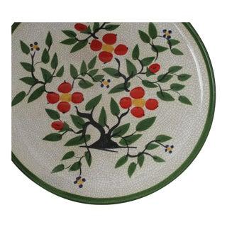 Hartman Studios California Pottery Large Round Vibrant Crackleware Platter