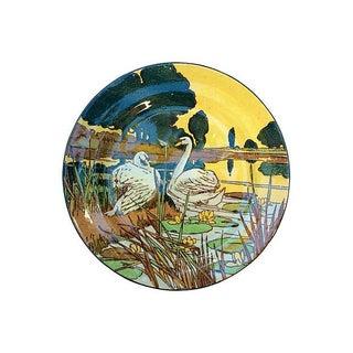 Antique Doulton Arts & Crafts Swan Plate